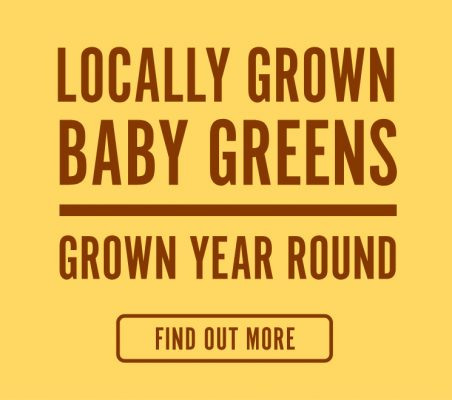 Locally Grown Baby Greens - Grown Year Round