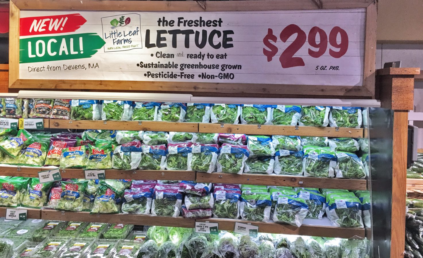 Little Leaf Farms brings locally grown baby greens to Stew Leonard's