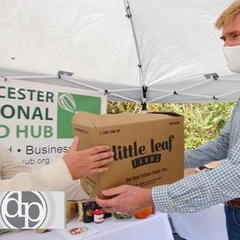 Worcester Food Hub's Shon Rainford and Little Leaf Farms' Paul Sellew